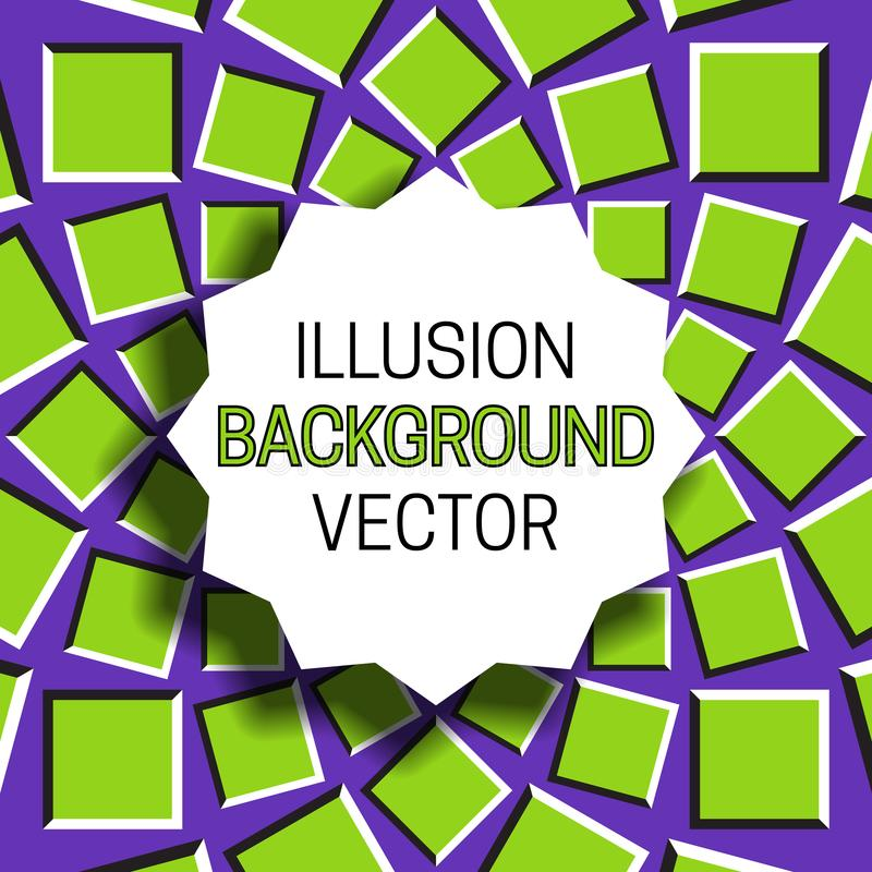 Scherp rond kader met schaduw op illusieachtergrond van het bewegen van cirkelpatroon vector illustratie