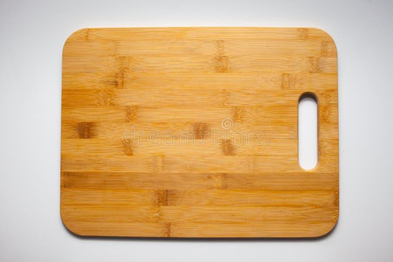 Scherpe die Raad van bamboe, houten textuur wordt gemaakt royalty-vrije stock fotografie