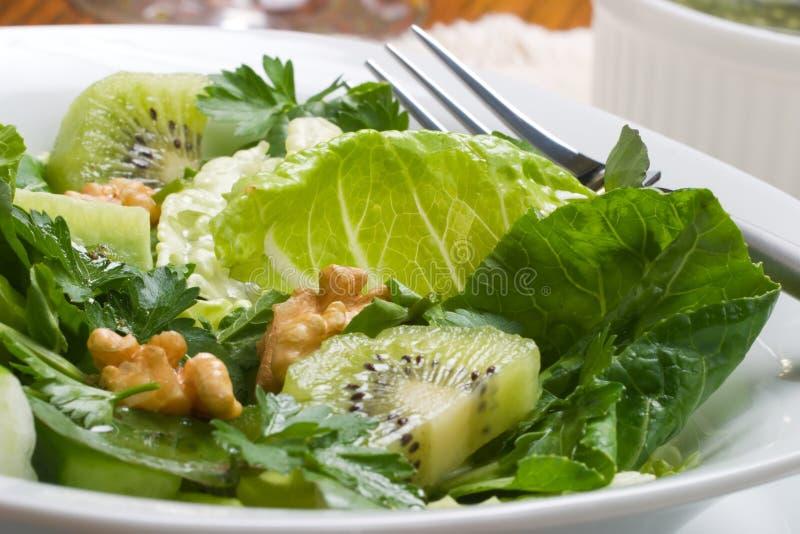 Scherpe en zoete groene salade stock fotografie