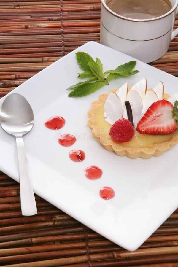 Scherpe het Dessert van de citroen royalty-vrije stock foto
