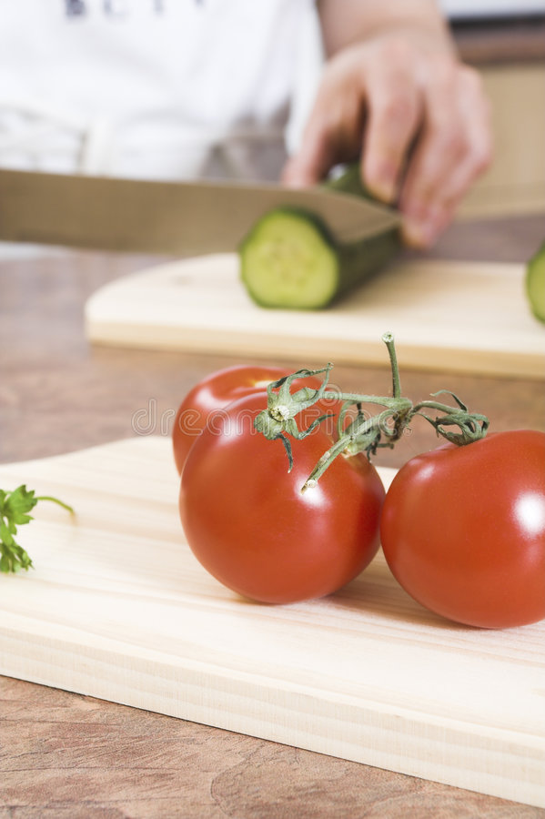 Scherpe komkommer stock foto