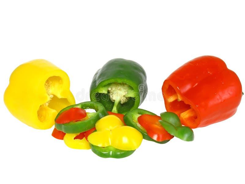Scherpe paprika op wit. Geïsoleerd stock afbeelding