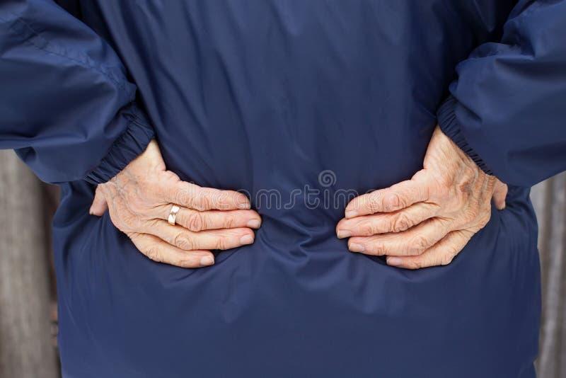 Scherpe rugpijn stock foto