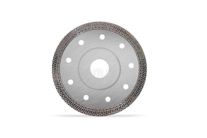 Scherpe schijf met diamanten - Diamantschijf voor geïsoleerd beton vector illustratie