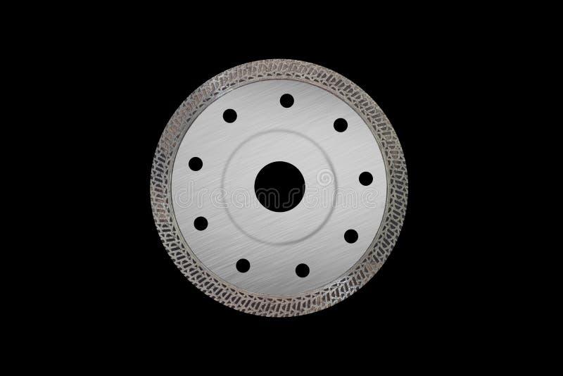 Scherpe schijf met diamanten - Diamantschijf voor geïsoleerd beton stock afbeeldingen