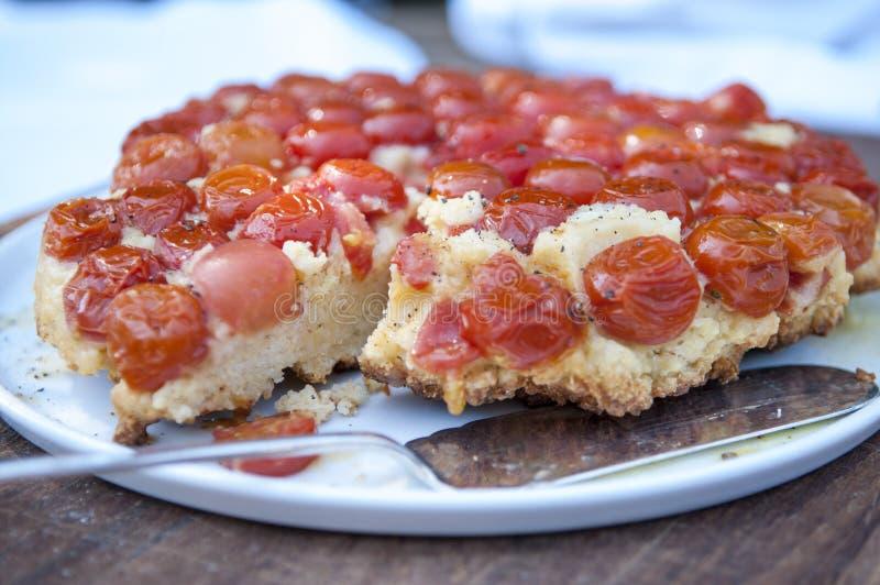 Scherpe tomaat royalty-vrije stock afbeelding
