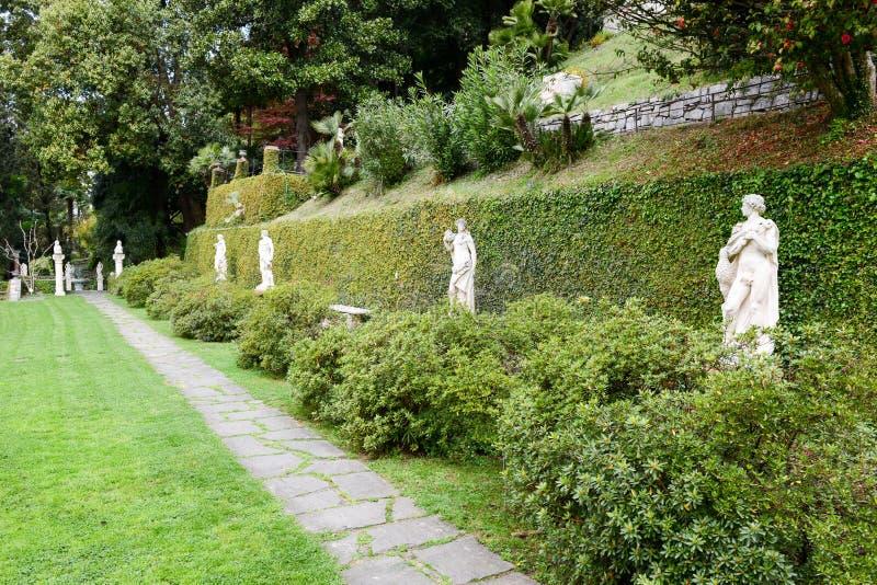 Scherrer Park at Morcote on Switzerland. Morcote, Switzerland - 13 april 2016: Scherrer Park on Morcote, Switzerland. Called The Garden of Wonders. a rich stock photo
