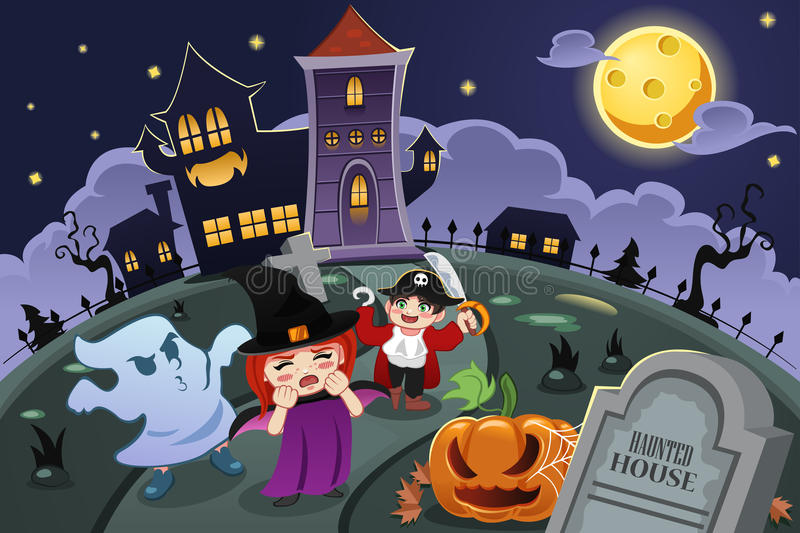 Scherza i costumi d'uso di Halloween royalty illustrazione gratis