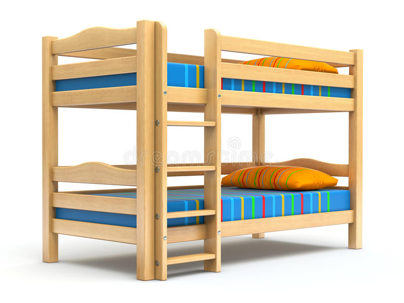 Scherza il letto di cuccetta illustrazione di stock