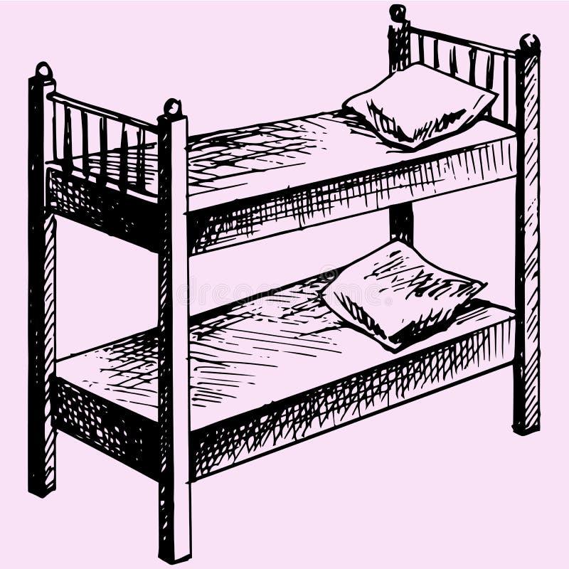 Scherza il letto di cuccetta royalty illustrazione gratis