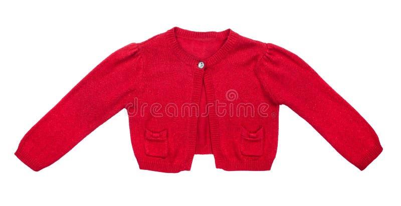Scherza il maglione rosso per le ragazze immagine stock