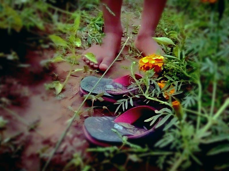scherza il piede Immagine del piede fotografie stock