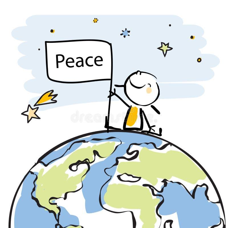 Scherza la pace globale illustrazione vettoriale