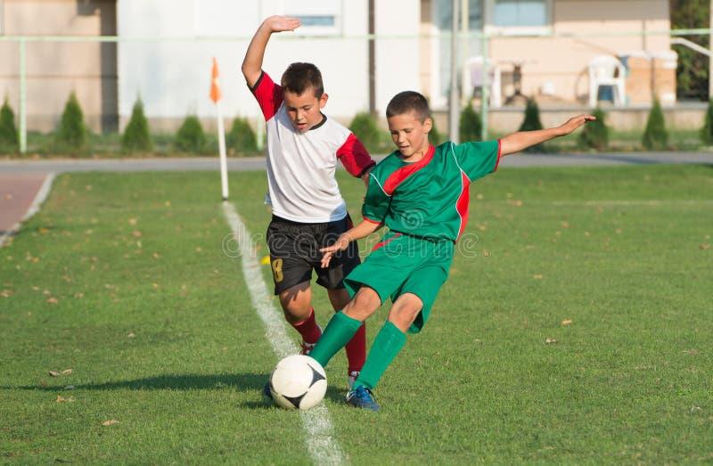 Scherza la partita di calcio fotografia stock libera da diritti