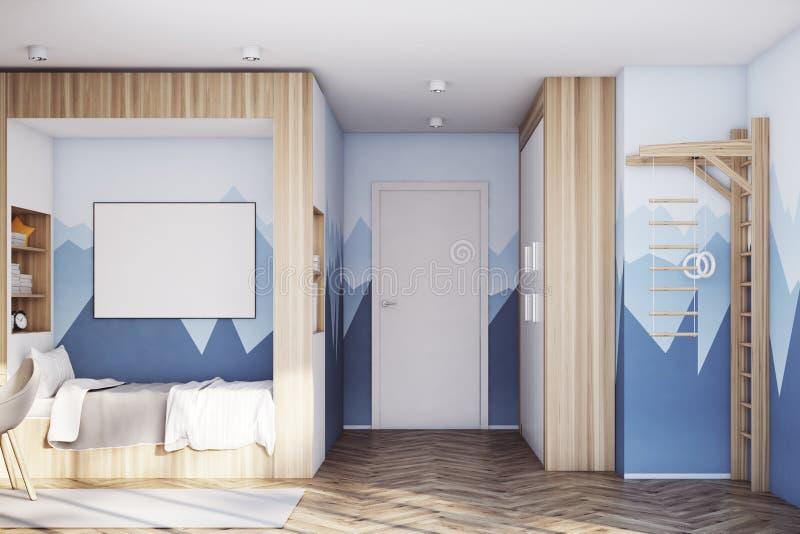Scherza la stanza con il manifesto, montagna illustrazione di stock