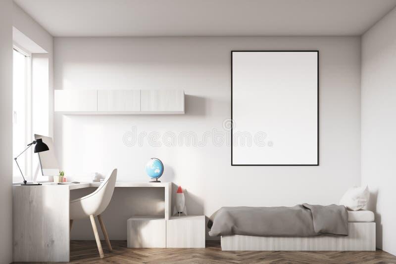 Scherza la stanza con un manifesto illustrazione vettoriale