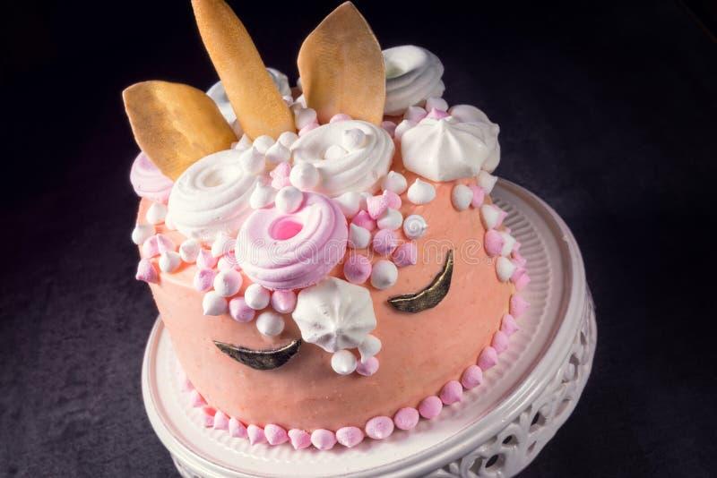 Scherza la torta di compleanno fotografia stock