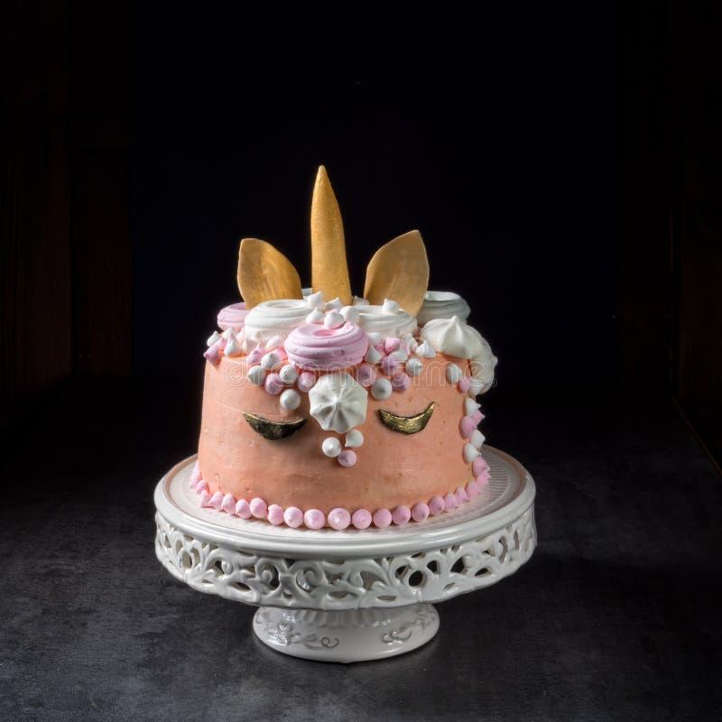 Scherza la torta di compleanno fotografia stock libera da diritti