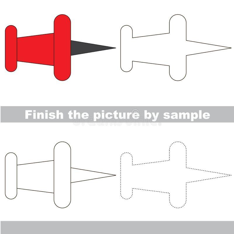 Scherzi il foglio di lavoro del disegno per completare l'immagine dal campione illustrazione vettoriale
