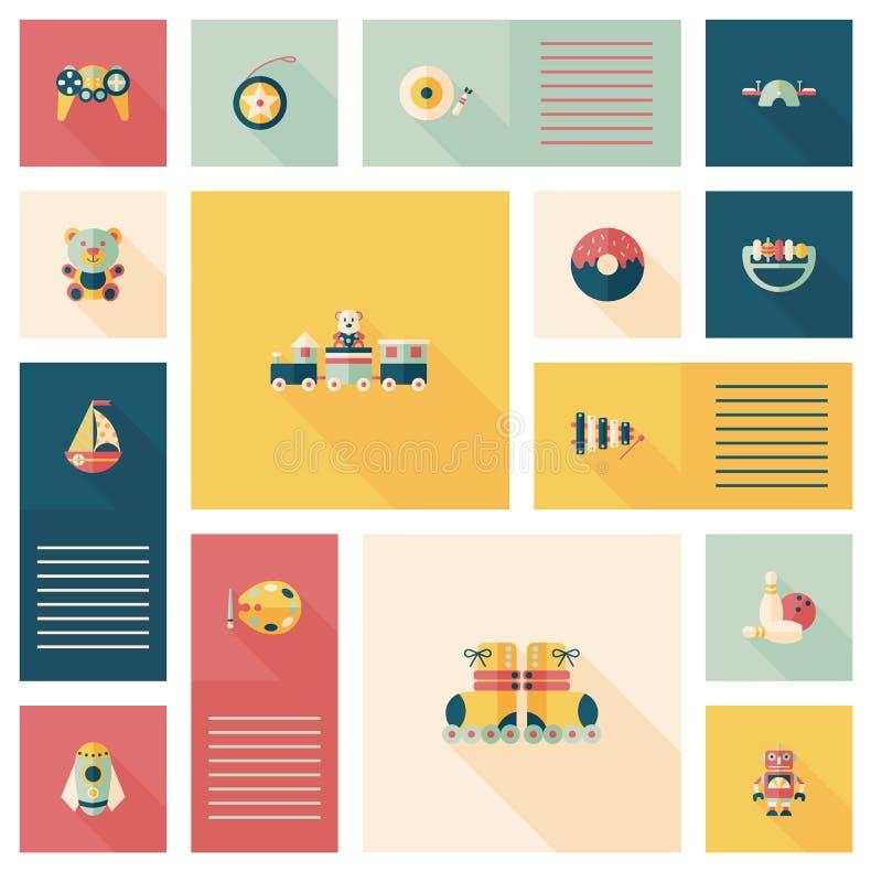 Scherzi il fondo piano di ui di app dei giocattoli, eps10 illustrazione vettoriale