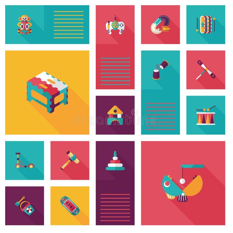 Scherzi il fondo piano di ui di app dei giocattoli, eps10 illustrazione di stock