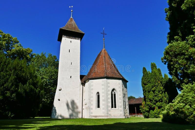 Scherzligen kościół zdjęcie royalty free