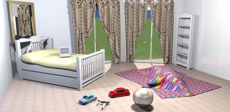 Scherzt Schlafzimmer stock abbildung