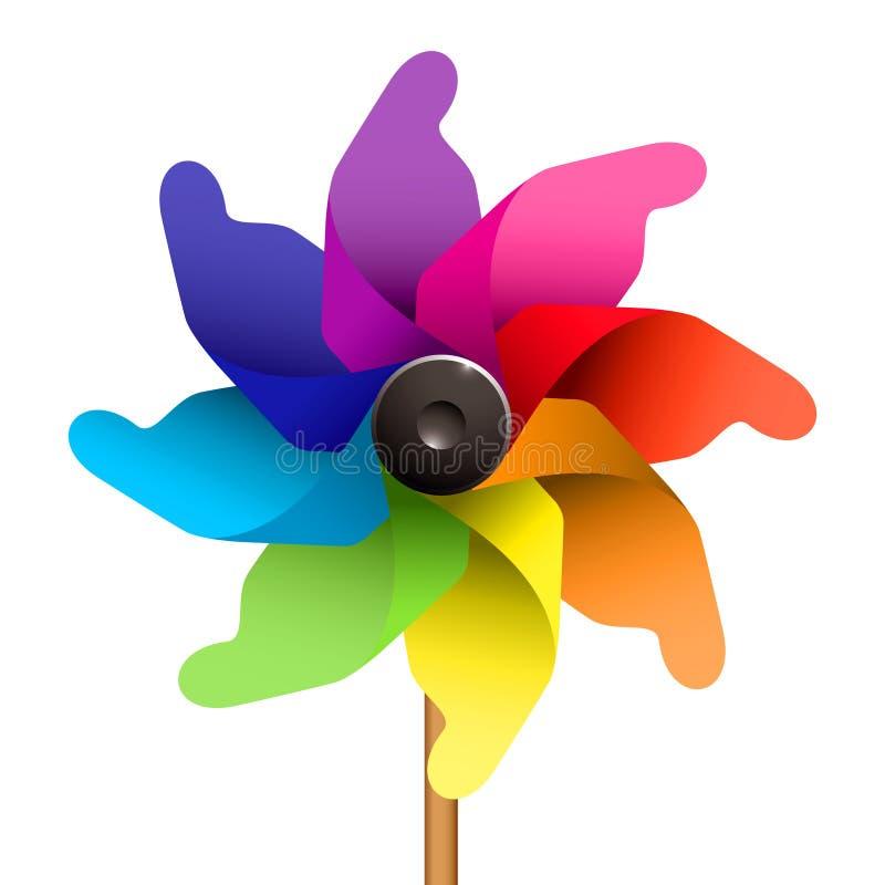 Scherzt Windmühle stock abbildung