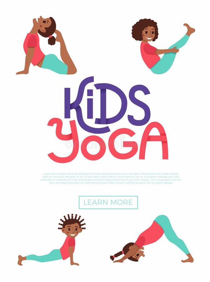 Scherzt Yoga flayer lizenzfreie abbildung