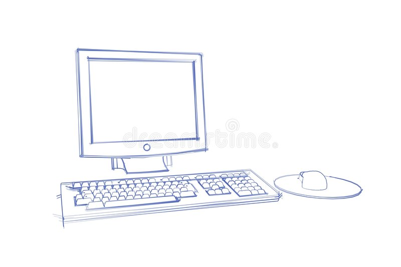 Schets van computer royalty-vrije illustratie