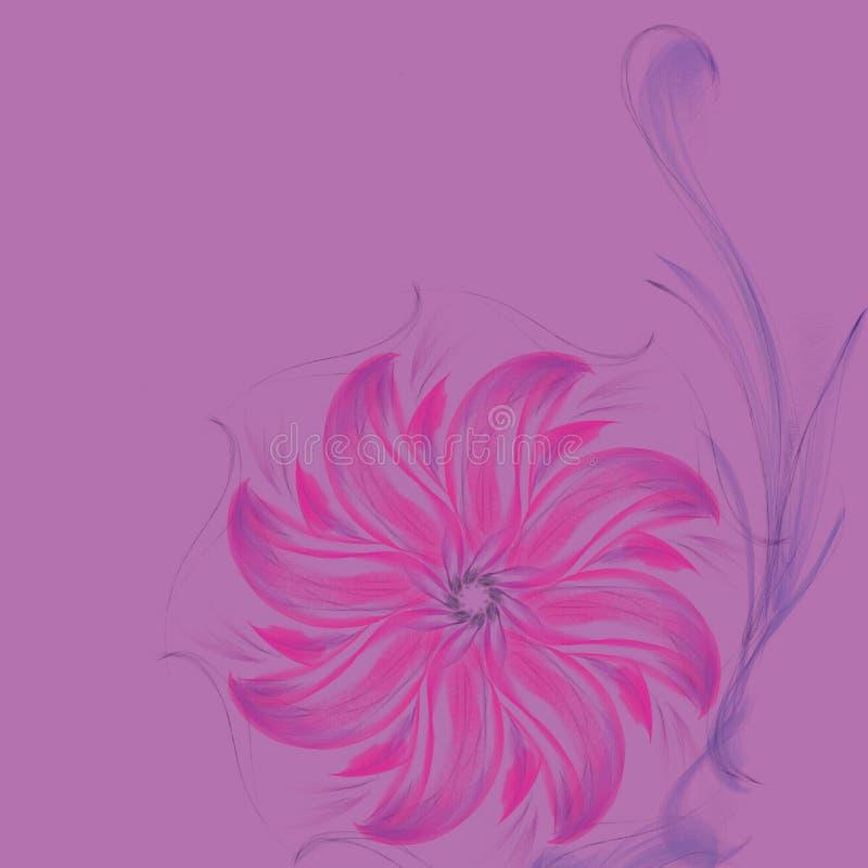 schets van de hand drawnd de kleurrijke bloem royalty-vrije stock foto's