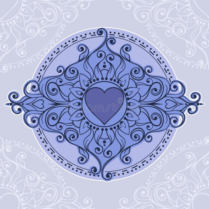 Schets van de harten van de tatoegeringshenna vector illustratie
