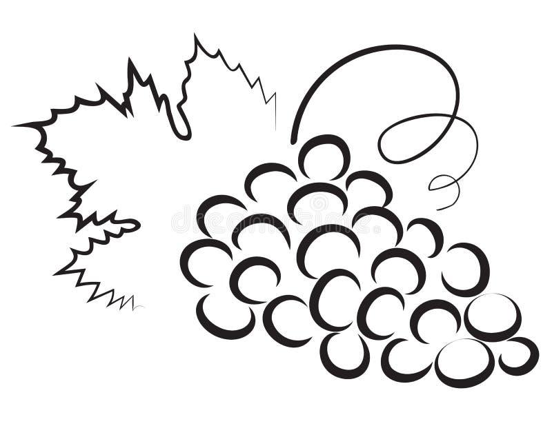 Schets van druif vector illustratie