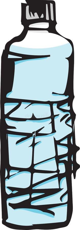 Schets van een fles water stock illustratie