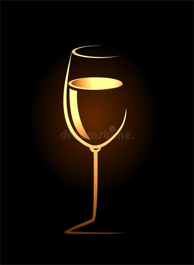 Schets van geïsoleerd wijnglas royalty-vrije illustratie