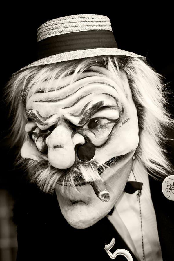 Schets van gezicht met masker royalty-vrije stock foto