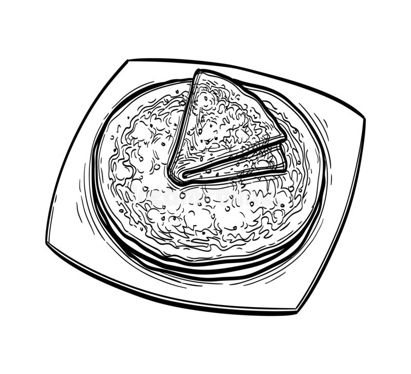 Schets van inktvissen vector illustratie