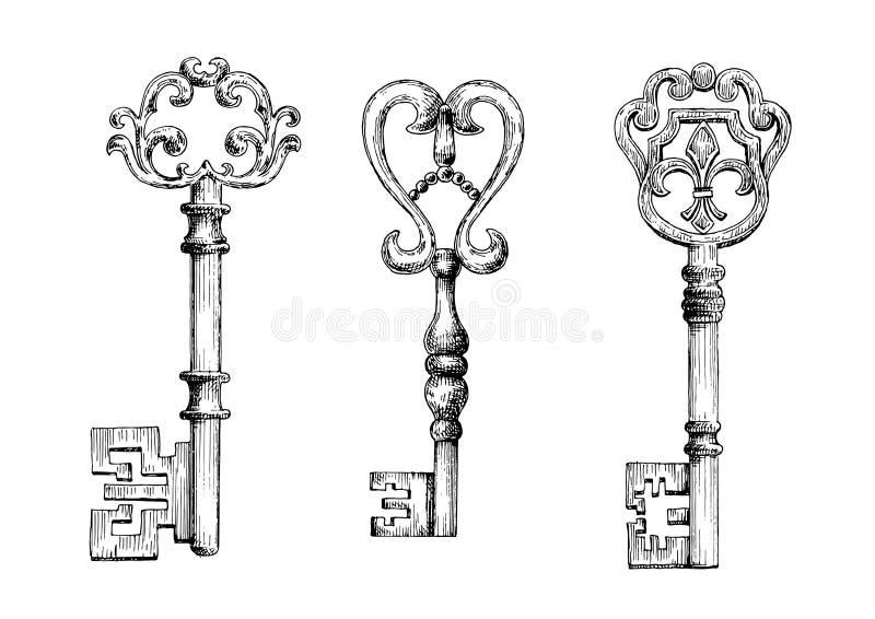 Schets van middeleeuwse lopers vector illustratie