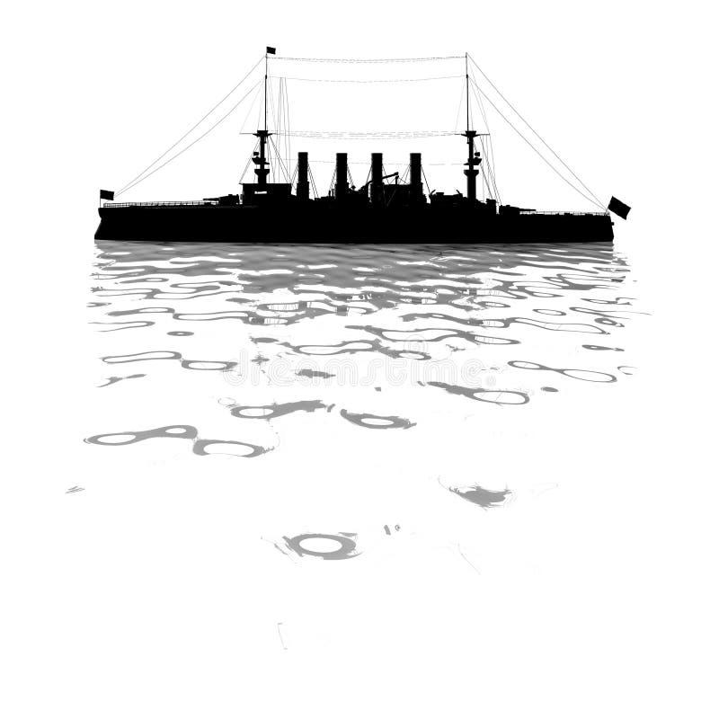 Schets van slagschip vector illustratie
