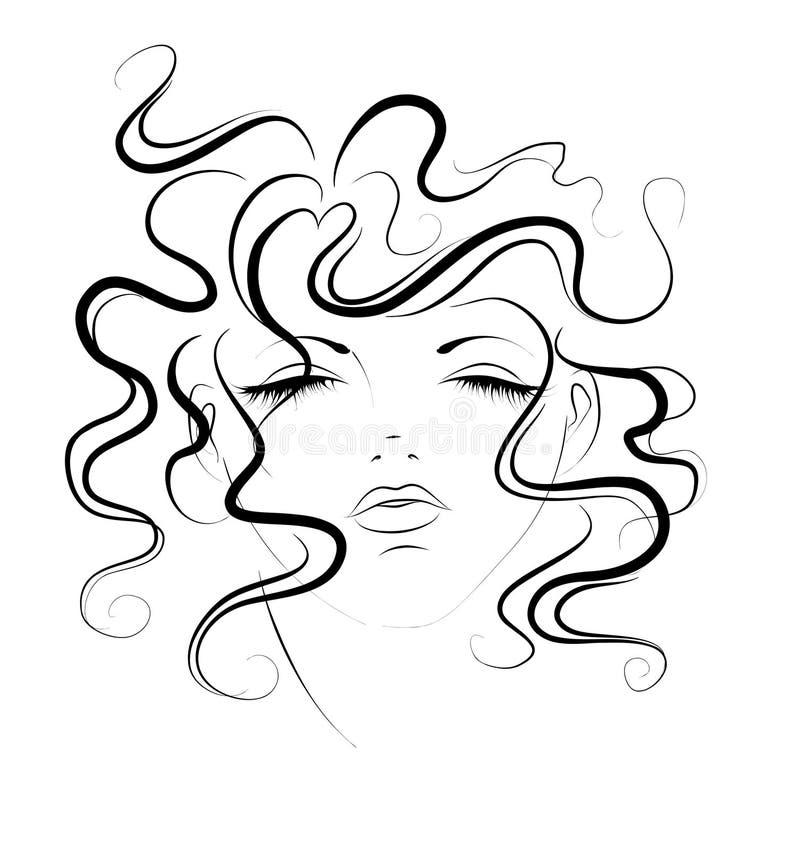 Schets van vrouwen stock illustratie