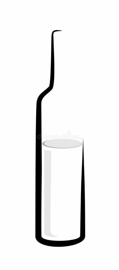 Schets van wijnfles stock illustratie