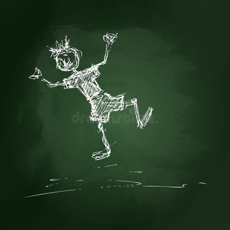 Download Schetsmatige Tekening Van Een Jongen Vector Illustratie - Illustratie bestaande uit banner, slordig: 54091205