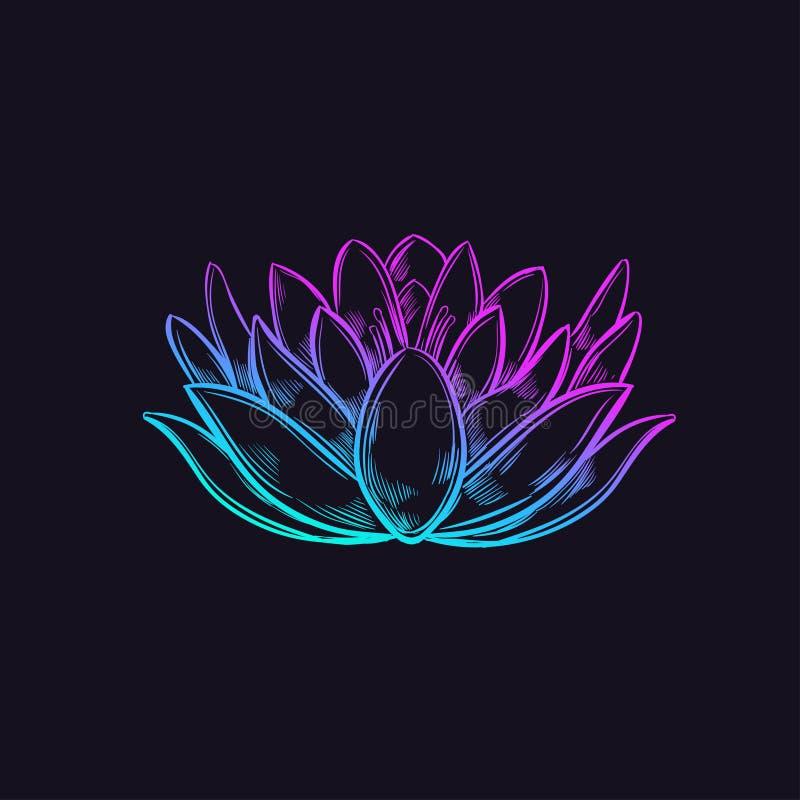 Schetsstijl Lotus royalty-vrije illustratie