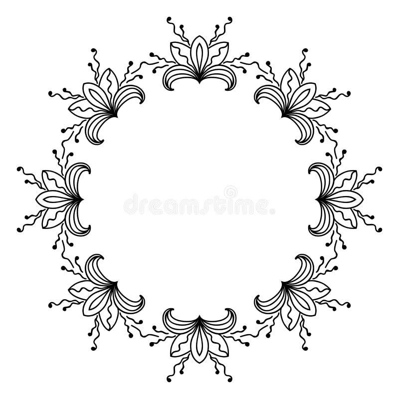 Schetsstijl om ornament vector illustratie