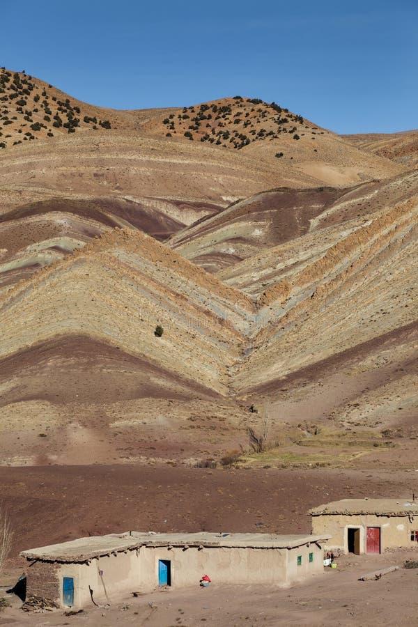 Scheune in den hohen Atlasbergen in Marokko stockfoto