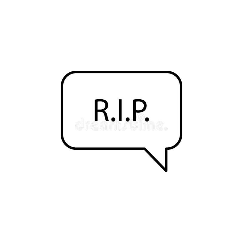 scheur, bel, toespraak, het pictogram van het doodsoverzicht gedetailleerde reeks pictogrammen van doodsillustraties Kan voor Web vector illustratie