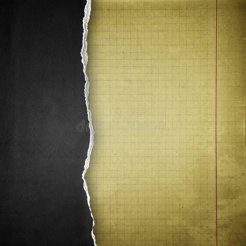 Scheur zwarte document achtergrond stock illustratie