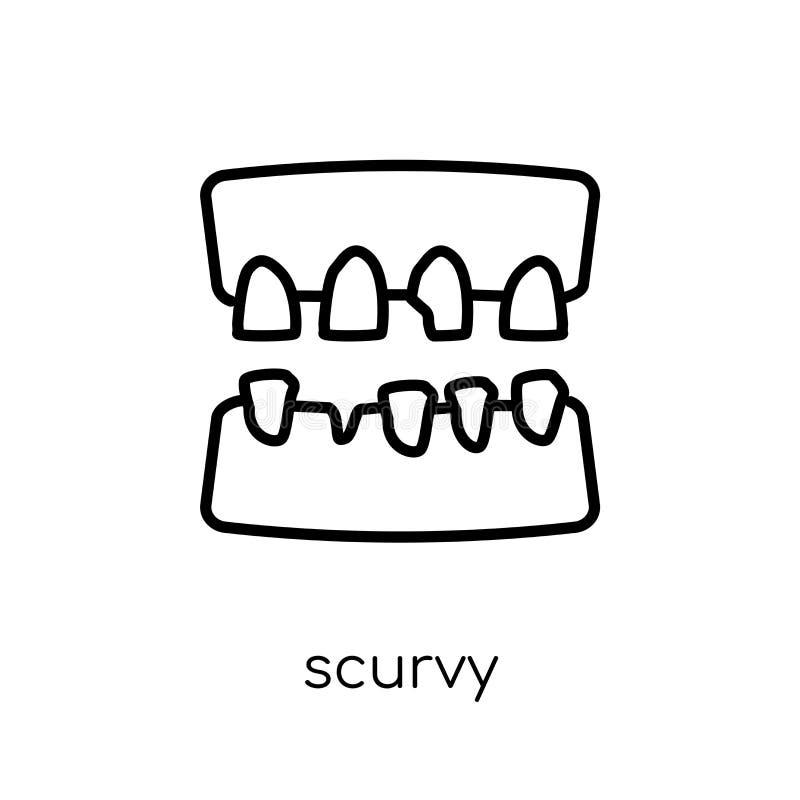 Scheurbuikpictogram In modern vlak lineair vectorscheurbuikpictogram op whi vector illustratie