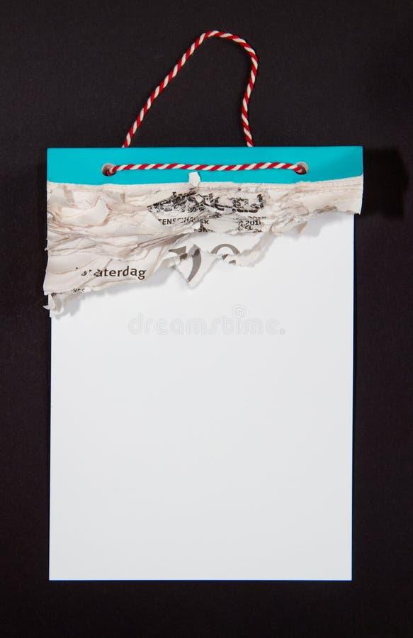 Scheurkalender met alle pagina's gegaan royalty-vrije stock foto