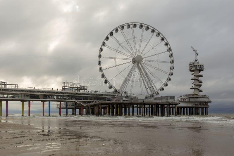 Scheveningen Pier In The Hague, Nederland stock fotografie